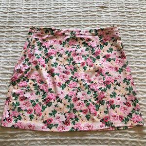 Shein Pink Floral Skirt